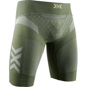 X-Bionic Twyce G2 Run Shorts Herre olive green/dolomite grey